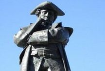 Statues of Bedford Town Centre. / Local historian Stuart Antrobus has carried out some research on the diverse range of statues that are located in Bedford town centre.  Thank you to Stuart for sharing his research with us.