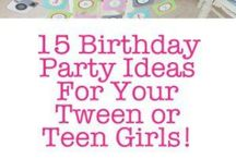 Tween Celebrations / Ideas for themes, food and decor for tween birthday parties and other celebrations.