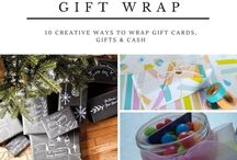 Creative Gift Wrapping / Creative gift wrap ideas for birthdays, Christmas and other special occasions.