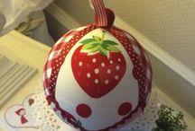 Bolas de decoración /  Bolas de porexpan forradas de tela, de Navidad, de Bautizo, regalo de Nacimiento, de celebración de cumpleaños ...
