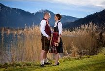 Hochzeit im Dirndl / Wenn schon Heiraten, dann aber richtig!  Unsere kleine Sammlung von tollen Hochzeitsfotos, Hochzeitstrachten, Brautdirndln und Trachten-Hochzeiten aus Bayern und Österreich. Das macht doch Lust auf mehr, oder?