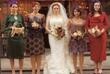Bridesmaid dress ideas / Picking bridesmaid ideas and how exactly to make mismatched dresses work (either color or just style) *the group pictures are focusing on the mismatched aspect while the single photos are focusing on the dress
