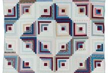 Log Cabins Old and New / Historical and contemporary Log Cabin Quilts