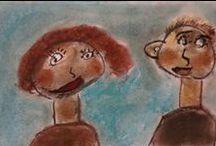 dessins d'enfants / quelques œuvres réalisées par mes jeunes élèves au cours de ma carrière d'enseignante