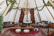 Bohemian, Festival Tipi Wedding Inspiration / Under Canvas Events luxury tent rentals can do it all...bohemian, festival style weddings and events are a perfect fit for our tipis and safari tents!
