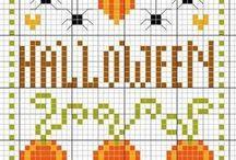 Halloween cross stitch / Halloween-themed cross stitch patterns