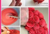 Bunga-bunga cinta bermekaran / Dekorasi, Kerajinan membuat bunga dari aneka bahan, Craft.