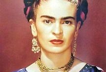 Frida kahlo / Strong woman -exceptionel in her paintings and influence in fashion..an icon.