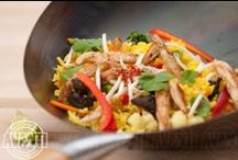 WOK dishes / Foods made in WOK.