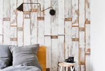 Scrap that! / Faux timber wallpaper, 'scrapwood', planks and panelling for interior decor and design