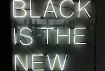 Black is the new black. / Black. A treasury of inky images, accentuating the glamour and sophistication black brings.