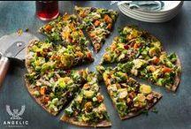 Pizza? Flatbread? Flatzza®. / Veggie, meat, or sweet treat. Enjoy a little 2-dimensional bliss.
