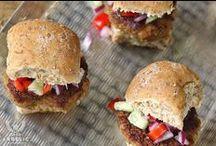 Sliders / Bite-size burgers with gigantic flavor.