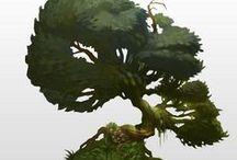 2D - Concept Art - Plants & Trees / 2D - Concept Art - Plants & Trees