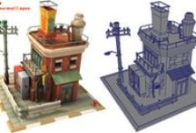 3D - Game Art - Architecture & Structures / 3D - Game Art - Architecture & Structures