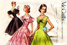 Stylish Vintage Dress Patterns / If I was clever enough with a sewing machine, I'd seriously make these gorgeous clothes myself!!!