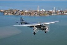 """Liberty Aviation Museum's 1928 Ford Tri-Motor 5AT / Photos of Liberty Aviation Museum's 1928 Ford Tri-Motor 5AT """"City of Wichita""""/""""City of Port Clinton"""".  The Liberty Aviation Museum is based in Port Clinton, Ohio at the Erie-Ottawa International Airport."""