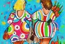 S-schilderen dikke dames