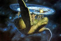 The World is a Disc...on Four Elephants... / ...which in turn stand on a giant turtle...