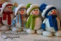 dekoracje świąteczne- bałwany