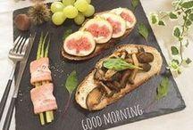 早のおしゃれご飯❤ / いろいろ、いろんな料理を食べたい!!オシャレに楽しく!!