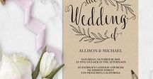 Invitations / DIY Wedding Invitation Templates Editable
