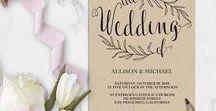 Invitations / DIY Wedding Invitation Templates Editable