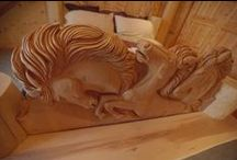 Hold Your Horses / Take a closer look at the beautiful bed carved by Mark, Dean and Jacob. / by Timber Kings