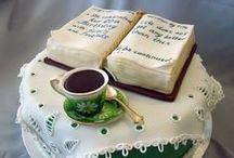 Sofradaki Kitaplar / Kitaplardan esinlenerek yapılan pastalar, kurabiyeler...