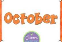 October / Activities for the upper elementary classroom during the month of October