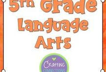 5th Grade Language Arts / Fifth Grade Language Arts activities, centers, lessons, games, resources and more. Reading, writing, grammar, and word study.