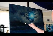 ACRYLIC PAINTING DEMO VIDEOS / Demos of Contemporary Masters of Acrylic Painting