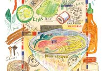 Vietnamese Food and Recipes / Pho recipe drawing in watercolors / by Deborah Doan