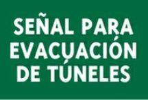 Rótulos para evacuación de túneles / La señalización de túneles es idónea para la indicación de la salida más próxima, del lugar en el cual nos encontramos. Permitiendo así que la evacuación del lugar se realice lo más rápido posible.