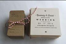 Inventive Wedding Invitations / Ideas and inspiration for your wedding invitations and save the dates