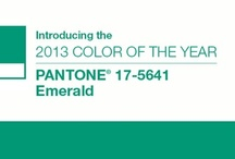 "Pantone 17-5641 Emerald / The 2013 ""IT"" color. / by Zadidoll"