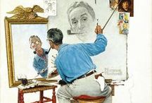 ::: ART /// Norman Rockwell ::: / The nation's premier illustrator for more than six decades, Norman Rockwell (1894–1978) was the people's painter, depicting scenes from American life for the covers and pages of the most prominent publications. Considered the greatest American illustrator of all time!!!
