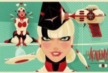 ::: ART /// Ragnar ::: / American Illustrator --- Brandon Ragnar Johnson - Having worked for Disney, Warner Brothers & Cartoon Network, his work is a stark & heady fusion of classic film noir, vintage fashion illustration & early cartoons.