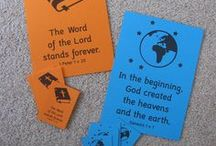 Memory verse teaching ideas / Ideas for teaching Bible verses to kids, or practising ones they've learned.