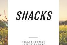 Snacks / A collection of easy snack foods. Wholesome, from scratch snaps.
