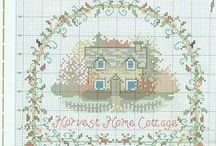 Cross Stitch Houses