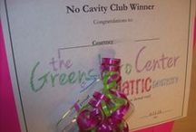 """No Cavity Club Winners and Prizes / We think that children who take care of their teeth should be rewarded. After a """"cavity free"""" checkup our patients get to enter our """"No Cavity Club"""". Prizes include an I-pod Nano, a 1 year membership to the N.C. Zoo and much more. One lucky winner will be drawn at the end of each month"""