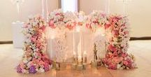 Soft Pink, White and Silver Wedding / Soft pink hydrangeas, roses and orchids, silver decor wedding, classic wedding, beautiful bride  Photographer: Thee highly talented Genevieve Fundaro