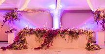 Greek themed Wedding / Greek themed wedding with beautiful pastel colours, colors, hanging arrangements, delphiniums, orchids, hydrangeas, roses, bougainvillea, suspended florals     Photography by Genevieve Fundaro