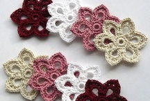Crochet flowers, butterflies & hearts