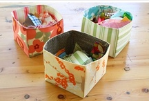 Sew Fabric Bins and Baskets