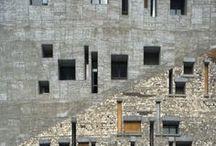gevel - facade / bijzondere façades door grafische patronen of bijzondere materialen