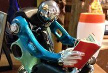 gli umanoidi di zia anto / umanoidi,animali e robot creati interamenti con pezzi di bicicletta  non piu' utilizzabili