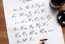 calligraphy, lettering, fonts