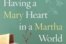 Having a Mary Heart / Based on Joanna Weaver's best-selling book, Having a Mary Heart in a Martha World: Finding Intimacy with God in the Busyness of Life. For Christian women who long for a closer friendship with Jesus.  Learn more about the 10-week DVD Bible Study at www.JoannaWeaverBooks.com or www.HavingaMaryHeart.com